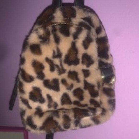 Handbags - Cheeth mini Fur Backpack